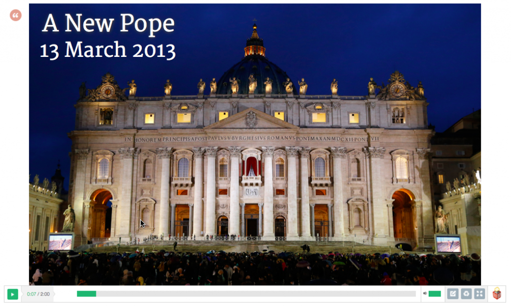 A new pope Popcorn project