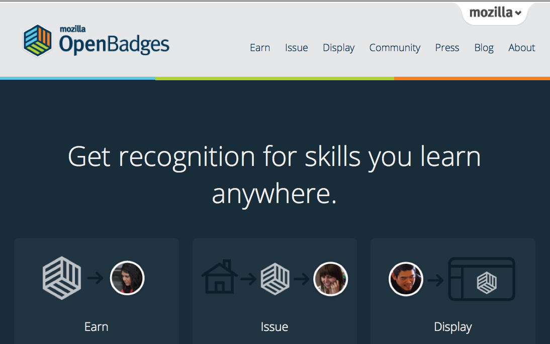 Badge Website introducing open badges 1 0 mozilla learning