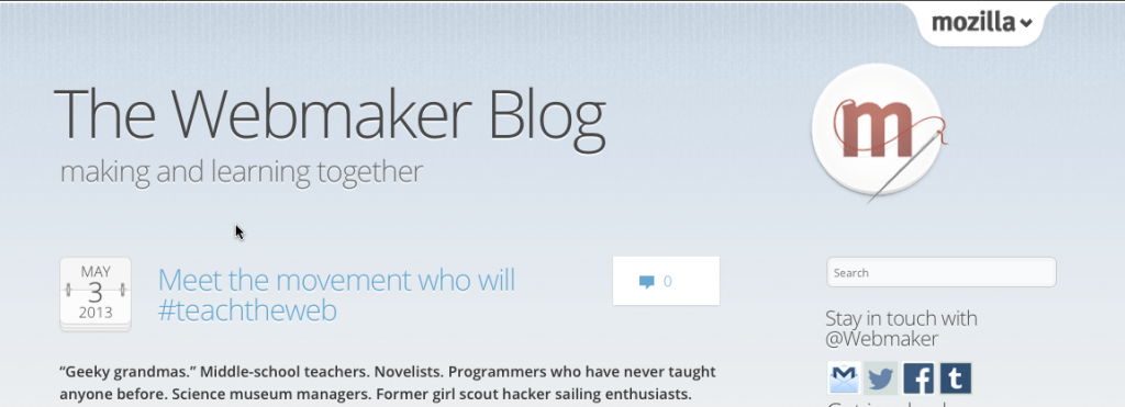 The Webmaker blog