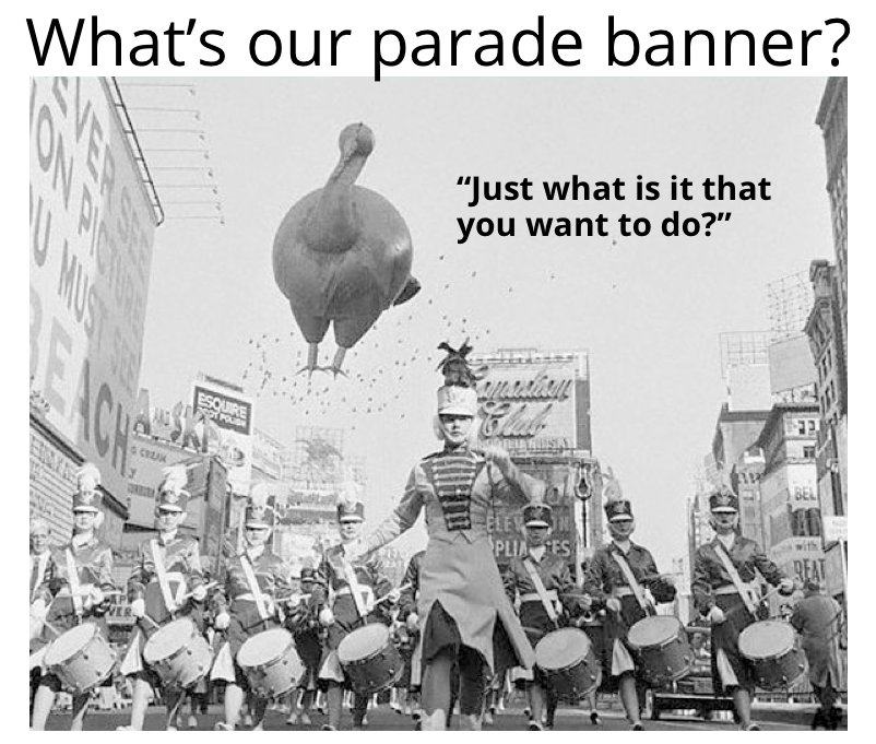 what's our parade banner